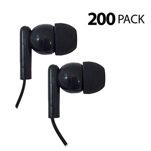 海外輸入ヘッドホン ヘッドフォン イヤホン 海外 輸入 Classroom Testing Bulk Rubber-tipped Earbuds - 200 Pack海外輸入ヘッドホン ヘッドフォン イヤホン 海外 輸入