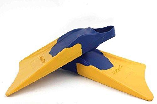 サーフィン フィン マリンスポーツ Churchill Makapuu Fins (Blue/Yellow) - Size: Medium/Large (M/L) - Perfect for catching waves, whether bodyboarding, swimming, travel fins, bodysurfing, casual swimmers or tight space sサーフィン フィン マリンスポーツ