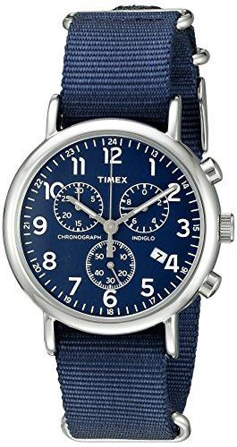 腕時計 タイメックス メンズ TW2R42800 【送料無料】Timex Men's TW2R42800 Weekender Chrono Black/Cream Two-Piece Leather Strap Watch腕時計 タイメックス メンズ TW2R42800