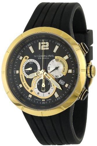 ストゥーリングオリジナル 腕時計 メンズ 224.33363 【送料無料】Stuhrling Original Men's 224.33363 Lifestyle Phoenix Swiss Quartz Chronograph Yellow Gold Watchストゥーリングオリジナル 腕時計 メンズ 224.33363