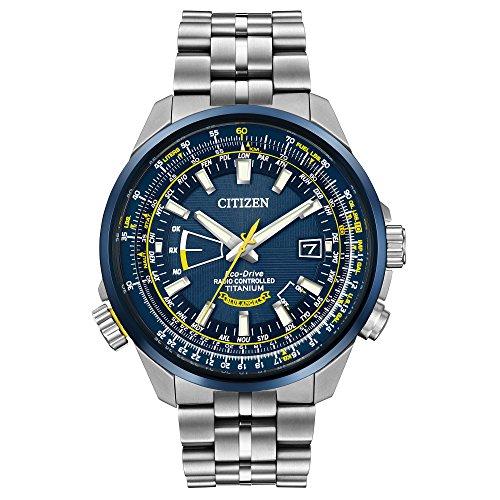 シチズン 逆輸入 海外モデル 海外限定 アメリカ直輸入 CB0147-59L 【送料無料】Citizen Eco-Drive Blue and Yellow Dial Titanium Quartz Men's Watch CB0147-59Lシチズン 逆輸入 海外モデル 海外限定 アメリカ直輸入 CB0147-59L