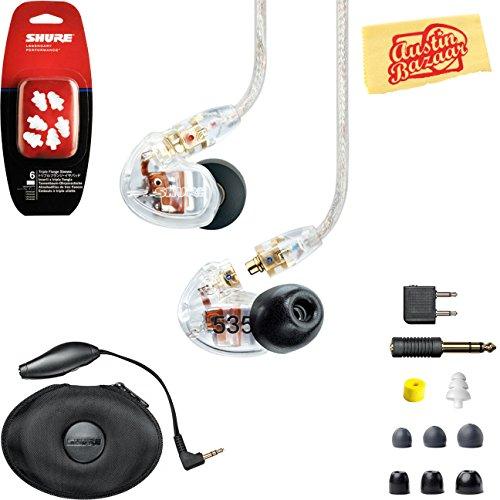 海外輸入ヘッドホン ヘッドフォン イヤホン 海外 輸入 SE535-CL-COMBO-STD Shure SE535 Sound Isolating Earphones - Clear Bundle with Triple Flange Sleeves, Sleeve Fit Kit, Carrying Case海外輸入ヘッドホン ヘッドフォン イヤホン 海外 輸入 SE535-CL-COMBO-STD