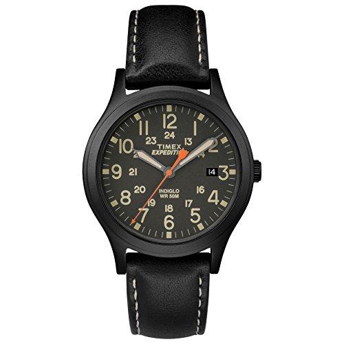 タイメックス 腕時計 メンズ TW4B11200 Timex Unisex TW4B11200 Expedition Scout 36 Black Leather Strap Watchタイメックス 腕時計 メンズ TW4B11200