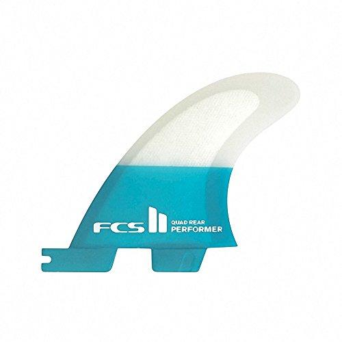 サーフィン フィン マリンスポーツ REACTOR 【送料無料】FCS Ii Performer Pc Quad Rear Retail Fin Small Tealサーフィン フィン マリンスポーツ REACTOR