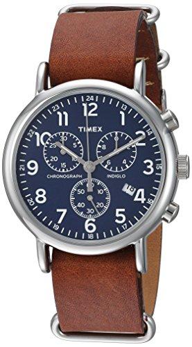 腕時計 タイメックス メンズ TW2R63200 【送料無料】Timex Unisex TW2R63200 Weekender Chrono Brown Double-Layered Leather Slip-Thru Strap Watch腕時計 タイメックス メンズ TW2R63200