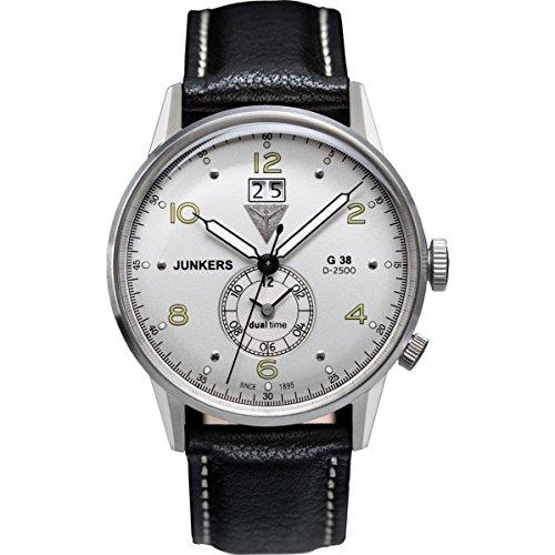 ユンカース ドイツ 腕時計 レディース G 38 【送料無料】Junkers G38 Dual Time GMT 6940-4 Watchユンカース ドイツ 腕時計 レディース G 38