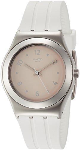 スウォッチ 腕時計 レディース YLS199 Swatch Blusharound Light Orange Dial Ladies Rubber Watch YLS199スウォッチ 腕時計 レディース YLS199