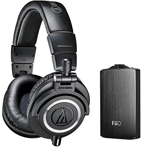 海外輸入ヘッドホン ヘッドフォン イヤホン 海外 輸入 E11ATHM50XBLACK Audio Technica ATH-M50X Professional Studio Headphones (Black) with FiiO A3 Portable Headphone Amplifier (Black)海外輸入ヘッドホン ヘッドフォン イヤホン 海外 輸入 E11ATHM50XBLACK