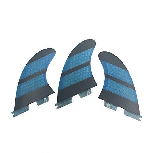 サーフィン フィン マリンスポーツ 【送料無料】UPSURF Surfboard Tri Fin FCS II M Size Fiberglass+Honeycomb Thruster Set (Blue)サーフィン フィン マリンスポーツ