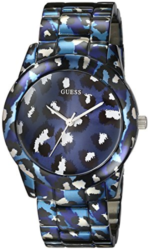 ゲス GUESS 腕時計 レディース U0425L1 GUESS Women's U0425L1 Iconic Blue Watch with Animal Print Bracelet & Dialゲス GUESS 腕時計 レディース U0425L1