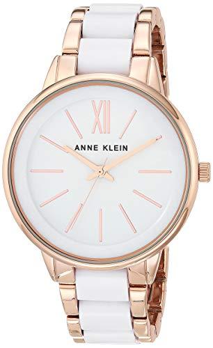 腕時計 アンクライン レディース AK/1412WTRG 【送料無料】Anne Klein Women's Rose Gold-Tone and White Bracelet Watch腕時計 アンクライン レディース AK/1412WTRG