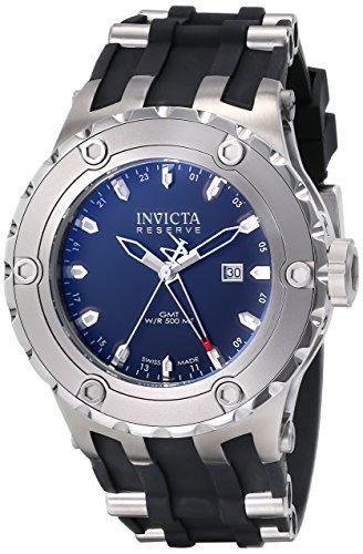 インヴィクタ インビクタ リザーブ 腕時計 メンズ 6182 【送料無料】Invicta Men's 6182 Reserve Collection GMT Stainless Steel Black Rubber Watchインヴィクタ インビクタ リザーブ 腕時計 メンズ 6182