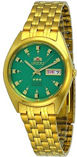オリエント 腕時計 メンズ Orient #FAB00001N Men's 3 Star Standard Gold Tone Green Dial Automatic Watchオリエント 腕時計 メンズ