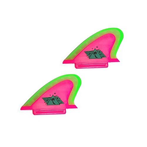 サーフィン フィン マリンスポーツ SAFETWN 【送料無料】Catch Surf Beater Pro Safety Twin Fin Set, Hot Pink/Neon Lime, One Sizeサーフィン フィン マリンスポーツ SAFETWN
