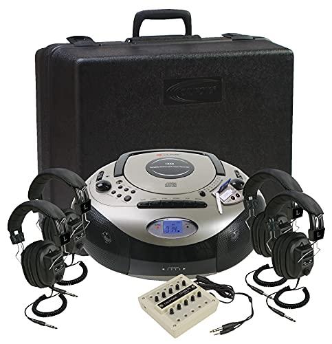 海外輸入ヘッドホン ヘッドフォン Center, pos海外輸入ヘッドホン 1886 海外 10 Listening Spirit Multimedia Includes ヘッドフォン 1886PLC イヤホン 1886PLC 輸入 Carry/Storage Case, SD 輸入 イヤホン Player, Califone One Boombox 4-Person Stereo 1886PLC 海外
