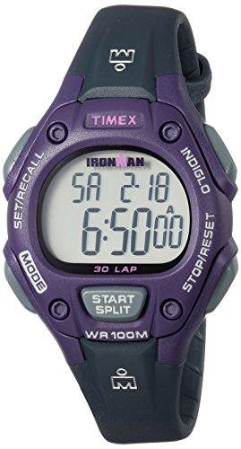 タイメックス 腕時計 レディース TW5M16000 【送料無料】Timex Women's TW5M16000 Ironman Classic 30 Mid-Size Gray/Purple Resin Strap Watchタイメックス 腕時計 レディース TW5M16000