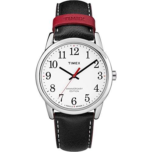 タイメックス 腕時計 メンズ TW2R40000 【送料無料】Timex Men's TW2R40000 Easy Reader 40th Anniversary Black/White Leather Strap Watchタイメックス 腕時計 メンズ TW2R40000