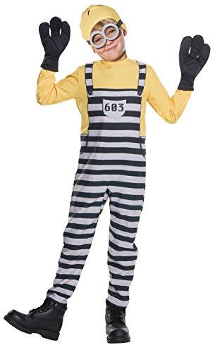 コスプレ衣装 コスチューム ミニオンズ 630847 Rubie's Costume Boys Despicable Me 3 Jail Minion Tom Costume, Medium, Multicolorコスプレ衣装 コスチューム ミニオンズ 630847