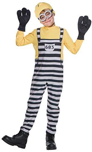 コスプレ衣装 コスチューム ミニオンズ 630847 Rubie's Costume Boys Despicable Me 3 Jail Minion Tom Costume, Large, Multicolorコスプレ衣装 コスチューム ミニオンズ 630847