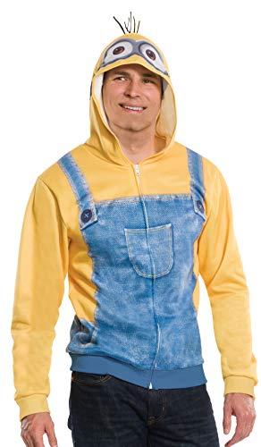 コスプレ衣装 コスチューム ミニオンズ 810783 Rubie's Men's Minion Unisex Hoodie, Yellow, X-Smallコスプレ衣装 コスチューム ミニオンズ 810783