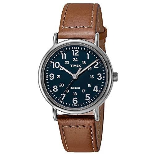 タイメックス 腕時計 メンズ TW2R42500 【送料無料】Timex Men's TW2R42500 Weekender 40mm Brown/Blue Two-Piece Leather Strap Watchタイメックス 腕時計 メンズ TW2R42500