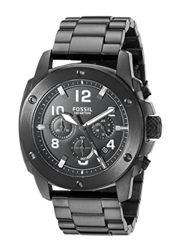 フォッシル 腕時計 メンズ FS4927 【送料無料】Fossil Men's FS4927 Modern Machine Chronograph Black Stainless Steel Bracelet Watchフォッシル 腕時計 メンズ FS4927