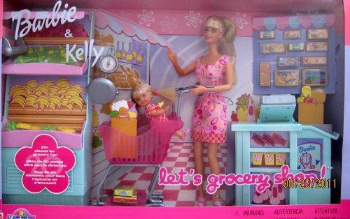 バービー バービー人形 日本未発売 プレイセット アクセサリ 56145 Barbie & Kelly LET'S GROCERY SHOP 27 Piece Playset TOYS