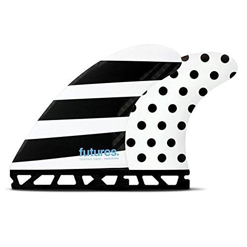 サーフィン フィン マリンスポーツ Futures Jack Freestone Control Series Thruster Fin Large Polka/stripesサーフィン フィン マリンスポーツ
