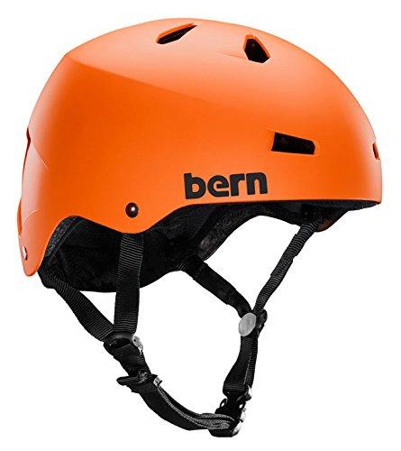ウォーターヘルメット 安全 マリンスポーツ サーフィン ウェイクボード 【送料無料】Bern Macon H2O Helmet Matte Orange Lウォーターヘルメット 安全 マリンスポーツ サーフィン ウェイクボード