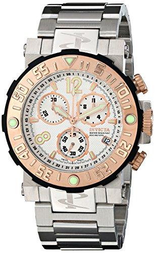 インヴィクタ インビクタ リザーブ 腕時計 メンズ 10587 【送料無料】Invicta Men's 10587 Reserve Chronograph White Textured Dial Stainless Steel Watchインヴィクタ インビクタ リザーブ 腕時計 メンズ 10587