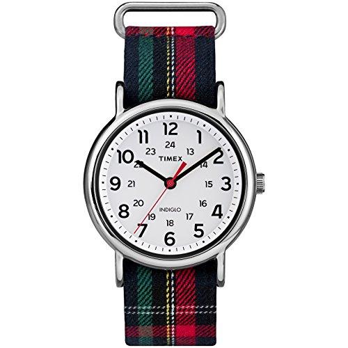 タイメックス 腕時計 レディース TW2R10900 【送料無料】Timex Women's TW2R10900 Weekender 38mm Blue Plaid Fabric Slip-Thru Strap Watchタイメックス 腕時計 レディース TW2R10900