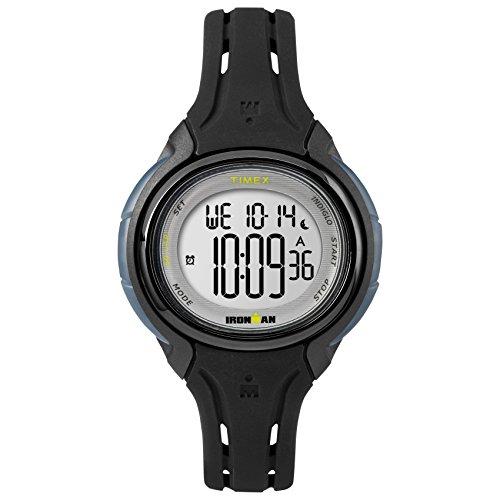 タイメックス 腕時計 レディース TW5M13700 【送料無料】Timex Women's TW5M13700 Ironman Sleek 50 Oval Black Silicone Strap Watchタイメックス 腕時計 レディース TW5M13700