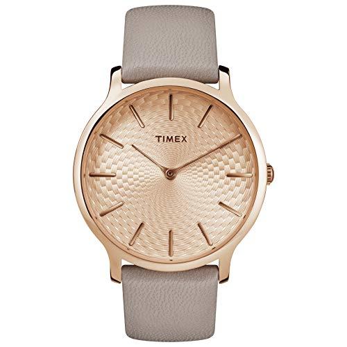 タイメックス 腕時計 レディース TW2R49500 【送料無料】Timex Women's TW2R49500 Metropolitan 40mm Gray/Rose Gold-Tone Leather Strap Watchタイメックス 腕時計 レディース TW2R49500
