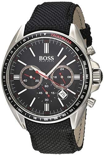 ヒューゴボス 高級腕時計 メンズ 【送料無料】HUGO BOSS Classic Black Dial Canvas Strap Men's Watch 1513087ヒューゴボス 高級腕時計 メンズ