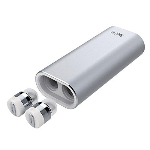 海外輸入ヘッドホン ヘッドフォン イヤホン 海外 輸入 BI9316 Beat-in Wireless Earphone Power Bank Bluetooth 4.1 compatible Left and right complete independent type BI9316 (Silver)海外輸入ヘッドホン ヘッドフォン イヤホン 海外 輸入 BI9316