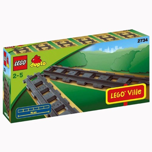 レゴ デュプロ 17262 Lego Duplo Legoville - Straight Tracks - 6 Pieces 2734レゴ デュプロ 17262