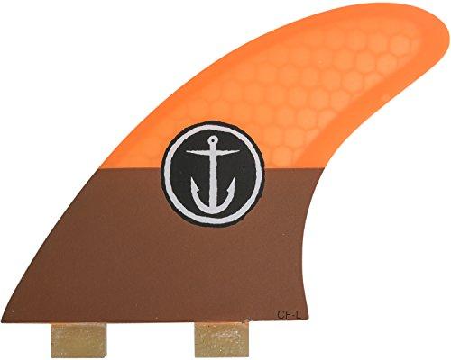 サーフィン フィン マリンスポーツ CFF3111505 Captain Fin Co. CF-Large Surfboard Fins | 3 Fin Set | Twin Tab | Orangeサーフィン フィン マリンスポーツ CFF3111505