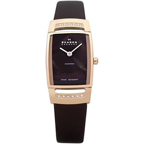 スカーゲン 腕時計 レディース 985SRLD 【送料無料】Skagen Denmark Womens Watch Swiss Rectangle Brown MOP Dial #985SRLDスカーゲン 腕時計 レディース 985SRLD