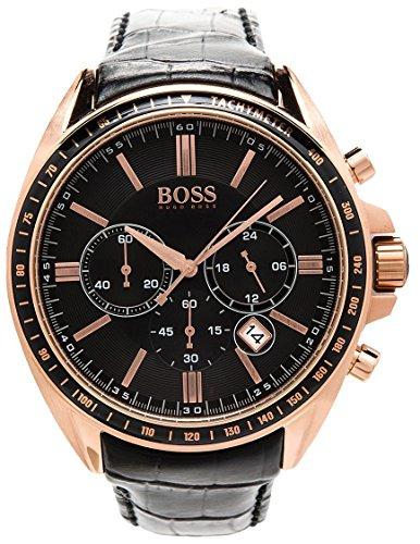 ヒューゴボス 高級腕時計 メンズ 1513092 【送料無料】Hugo Boss Black Dial Stainless Steel Leather Chrono Quartz Men's Watch 1513092ヒューゴボス 高級腕時計 メンズ 1513092