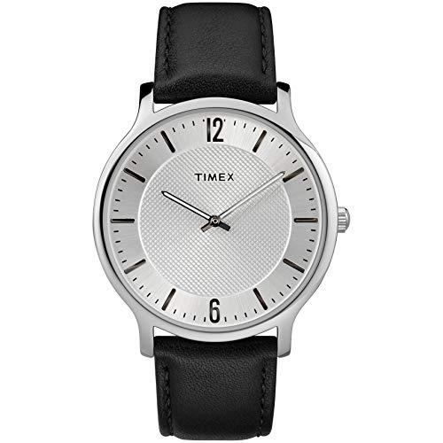 腕時計 タイメックス メンズ TW2R50000 【送料無料】Timex Men's TW2R50000 Metropolitan 40mm Black/Silver-Tone Leather Strap Watch腕時計 タイメックス メンズ TW2R50000
