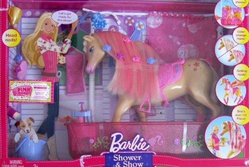 バービー バービー人形 日本未発売 プレイセット アクセサリ Barbie SHOWER & SHOW PLAYSET w HORSE (Head NODS), Glittery BATH TUB & Shower & MORE! (2008)バービー バービー人形 日本未発売 プレイセット アクセサリ