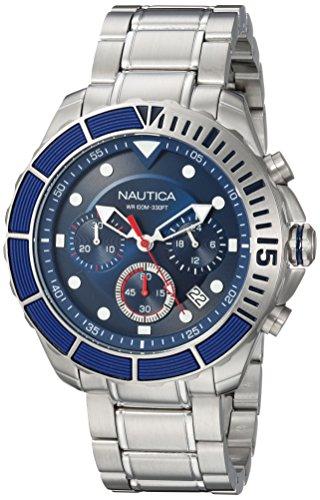 メンズ Watch NAPPTR004 Blue, メンズ Stainless-Steel NAPPTR004 Puerto RICO (Model: ノーティカ 23 NAPPTR004)腕時計 【送料無料】Nautica with ノーティカ Quartz 腕時計 Sport Strap, Men's