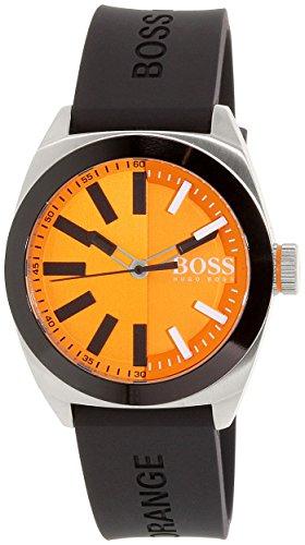 ヒューゴボス 高級腕時計 メンズ 1513052 Hugo Boss Orange London Orange Dial Silicone Strap Men's Watch 1513052ヒューゴボス 高級腕時計 メンズ 1513052