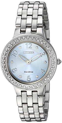 シチズン 逆輸入 海外モデル 海外限定 アメリカ直輸入 FE2080-56L 【送料無料】Citizen Women's 'Eco-Drive' Quartz Stainless Steel Casual Watch, Color:Silver-Toned (Model: FE2080-56L)シチズン 逆輸入 海外モデル 海外限定 アメリカ直輸入 FE2080-56L