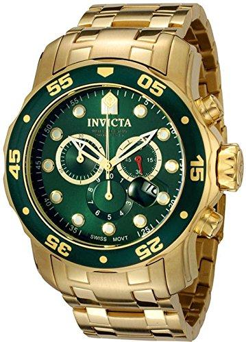 インヴィクタ インビクタ プロダイバー 腕時計 メンズ 【送料無料】Invicta 0075 Men's Pro Diver Chronograph 18k Yellow Gold Platedインヴィクタ インビクタ プロダイバー 腕時計 メンズ