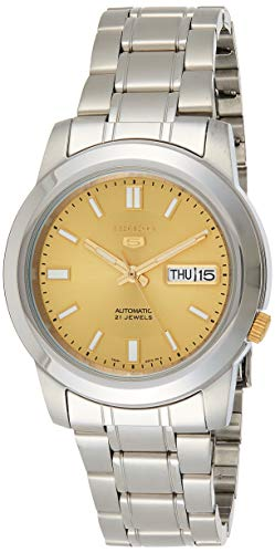 セイコー 腕時計 メンズ SNKK13 Seiko Men's SNKK13 5 Stainless Steel Goldtone Dial Watchセイコー 腕時計 メンズ SNKK13