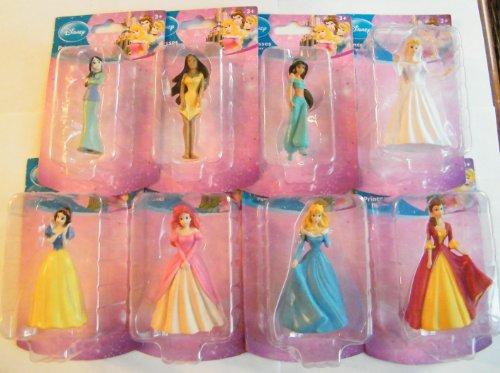 ディズニープリンセス Disney Princess Figurines Cake Topper : Belle, Cinderella, Little Mermaid, Mulan, Sleeping Beauty Etc Set of 8ディズニープリンセス
