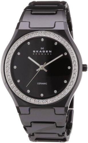 スカーゲン 腕時計 レディース 813LXBC Skagen Women's 813LXBC Ceramic Black Ceramic Crystal Watchスカーゲン 腕時計 レディース 813LXBC