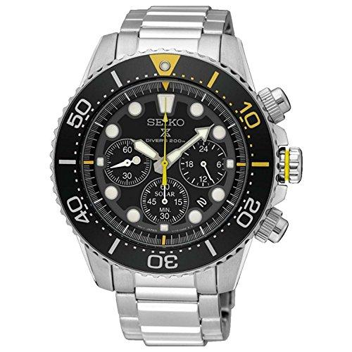 セイコー 腕時計 メンズ SSC613P1 【送料無料】SEIKO Prospex Sea Diver's 200m Chronograph Solar Sports Watch Silver SSC613P1セイコー 腕時計 メンズ SSC613P1