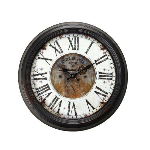 壁掛け時計 インテリア インテリア 海外モデル アメリカ CK0015 【送料無料】Adeco Vintage-Inspired Brown Round Wall Hanging Clock